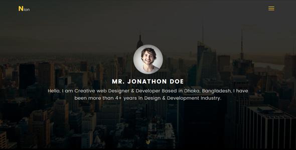 Nion - Super Professional Personal Portfolio Template - Personal Site Templates