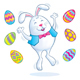 Easter Bunny Jumping for Joy - GraphicRiver Item for Sale