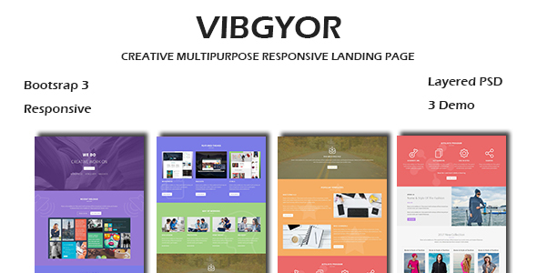 VIBGYOR - Creative Responsive HTML Landing Page - Landing Pages Marketing