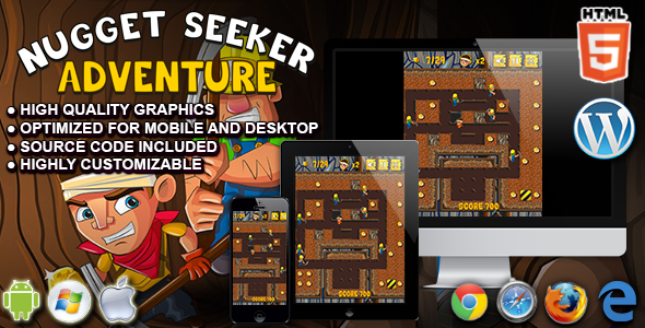 Download Sourcode              Nugget Seeker Adventure - HTML5 Arcade Game nulled version