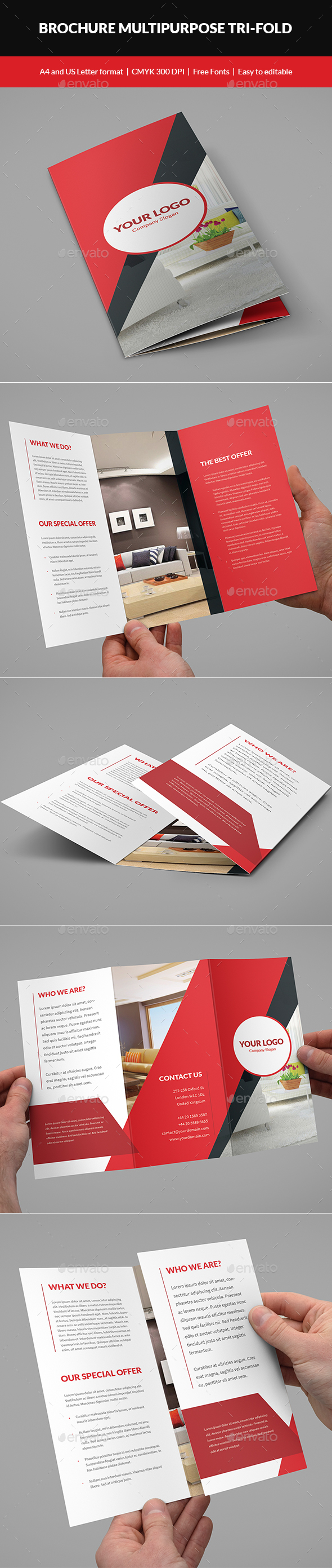 Brochure Multipurpose Tri-Fold - Corporate Brochures