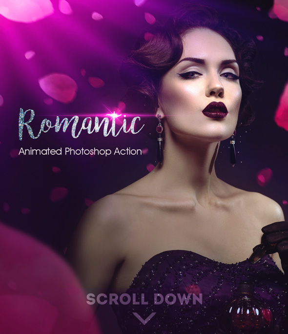 Romantic Photoshop Animated Action - Photo Effects Actions