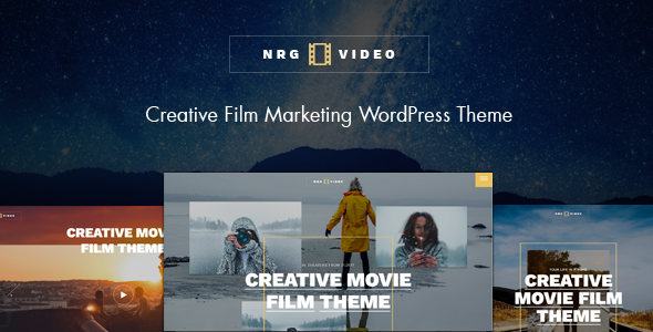 NRGVideo – Movie Film Marketing WordPress Theme