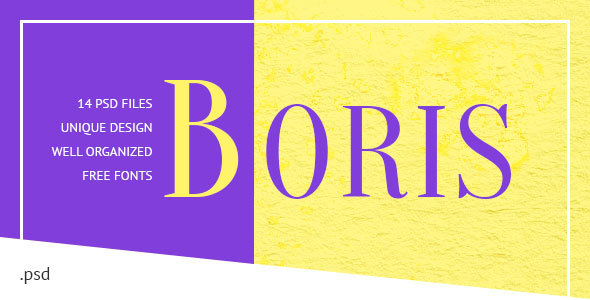 Boris — Creative Portfolio PSD Template