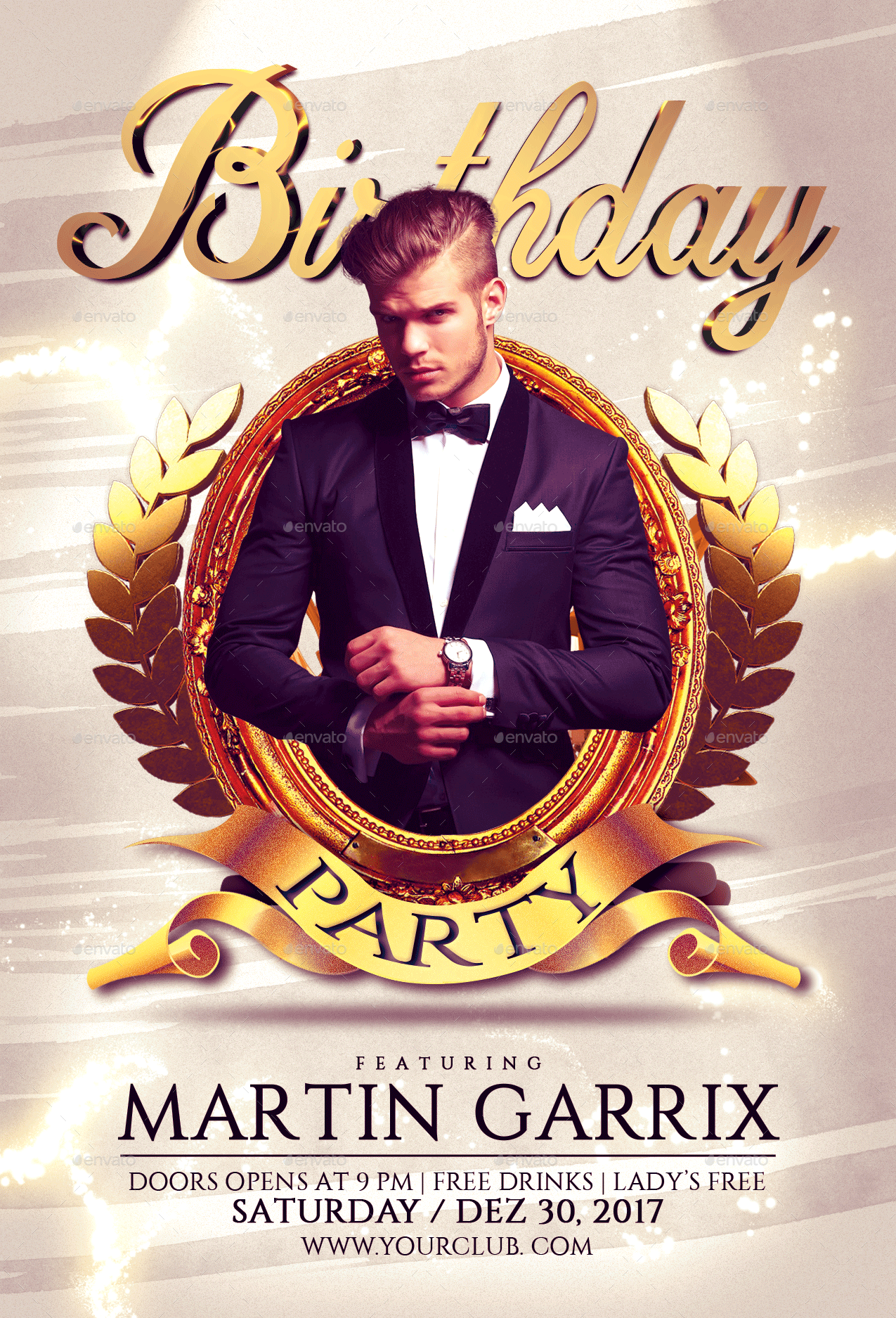 birthday party flyer template by fas
