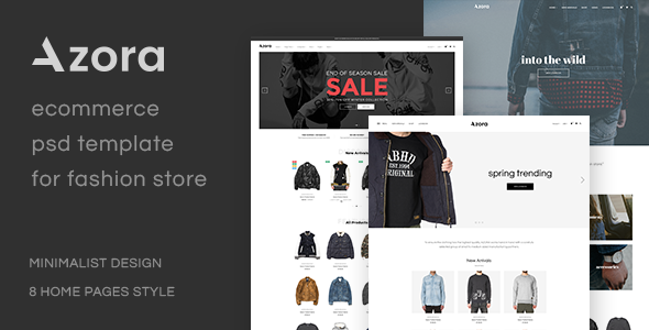 Azora – Ecommerce PSD Template For Fashion Store