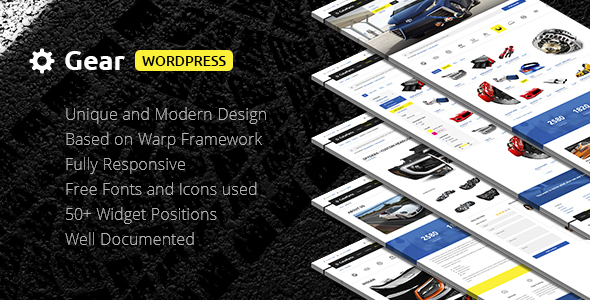 Gear — Business/Auto/Store Responsive WordPress Theme
