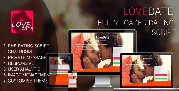 LoveDate - Premium Dating Script - CodeCanyon Item for Sale