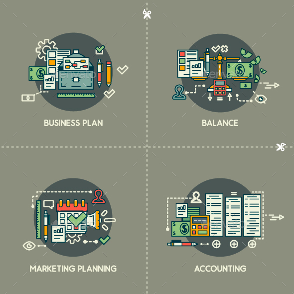 Business Plan, Balance, Marketing Planning, Accounting. - Concepts Business