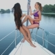 Girls Relaxing on a Yacht - VideoHive Item for Sale