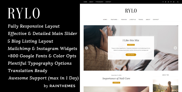 Rylo – WordPress Blog Theme