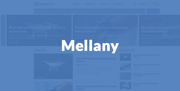 Mellany – WordPress Theme for Magazine / News / Blog