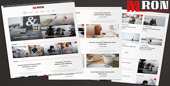 Mron - Clean Blog & Magazine Theme - News / Editorial Blog / Magazine