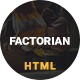 Factorian - Minimal factory & industry HTML Template - ThemeForest Item for Sale