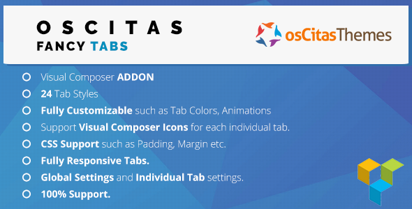 Visual Composer osCitas Fancy Tabs - CodeCanyon Item for Sale