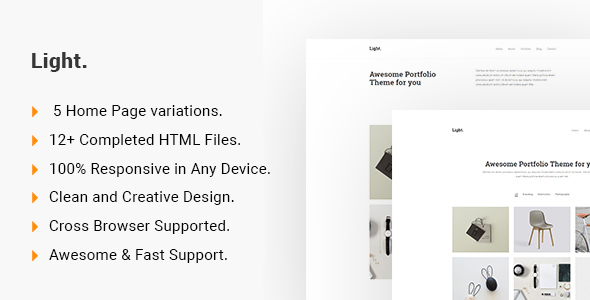 Light – Minimalist Portfolio HTML5 Template