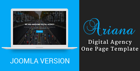 Ariana – Digital Agency One Page Joomla Theme
