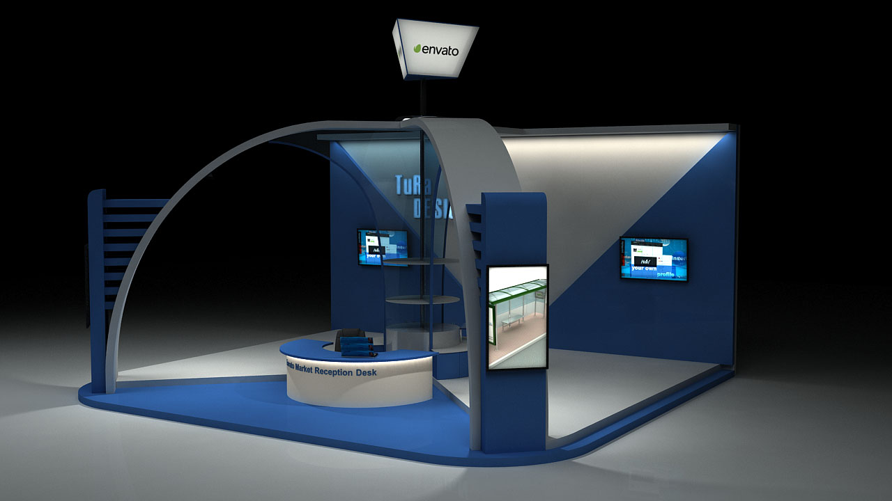 Exhibition Stand Reception : Exhibition stand by tura256 3docean