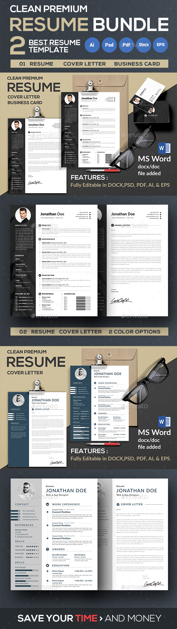 Resume/CV Bundle - Resumes Stationery