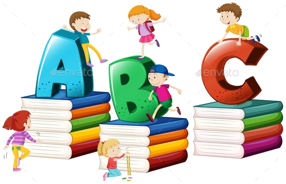 Children and English Alphabets - Miscellaneous Conceptual