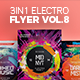 3 in 1 - Electro Flyer V.8 Bundle - GraphicRiver Item for Sale