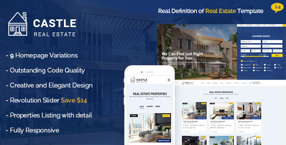 Castle - Real Estate Template - Business Corporate