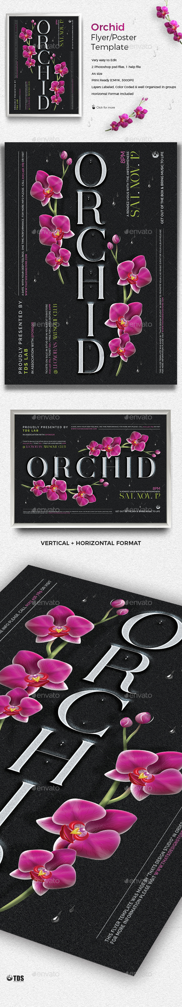 Orchid Flyer Template - Clubs & Parties Events