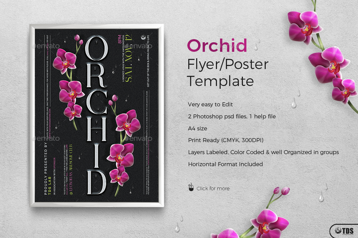 Orchid photoshop psd