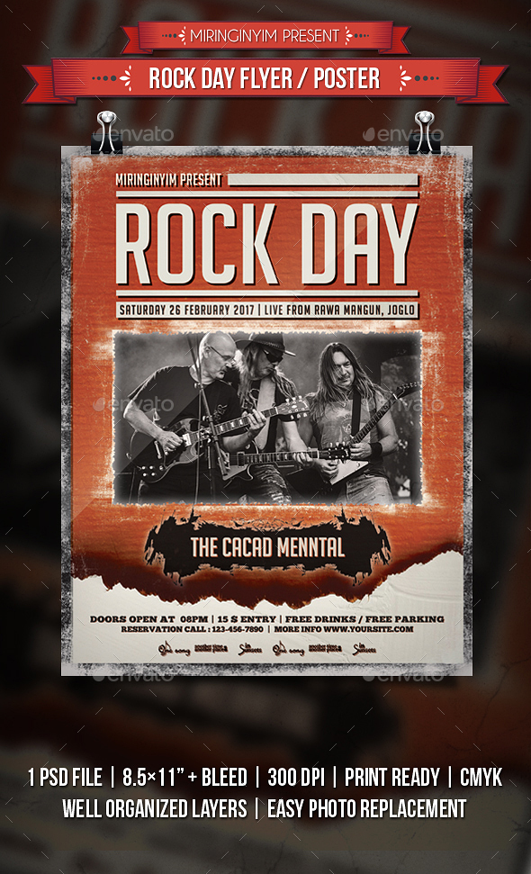 Rock Day Flyer / Poster - Events Flyers