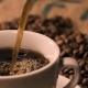 Coffee Poring Into A Black Cup - VideoHive Item for Sale
