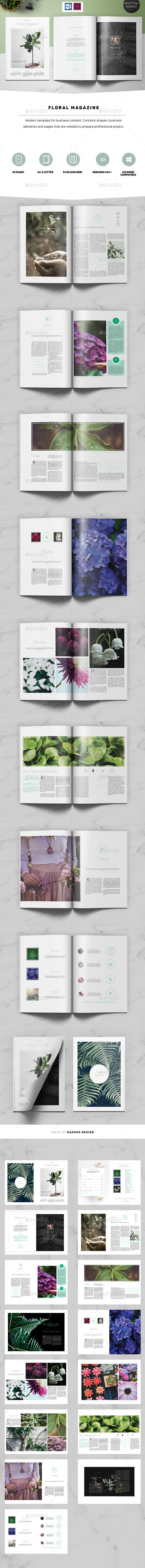 Floral Magazine - Magazines Print Templates