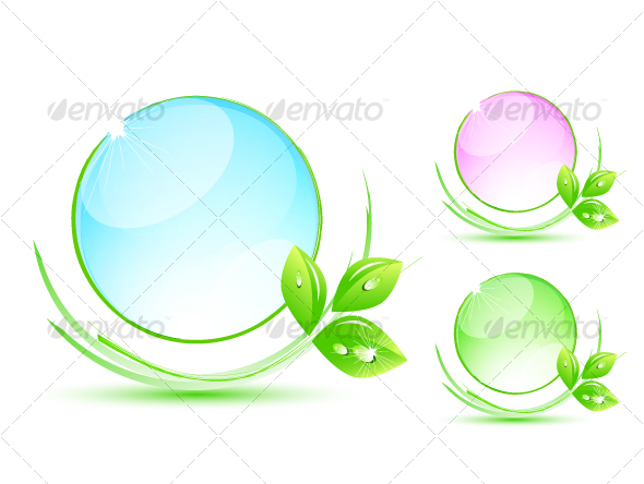 Natural glass design elements - Decorative Symbols Decorative