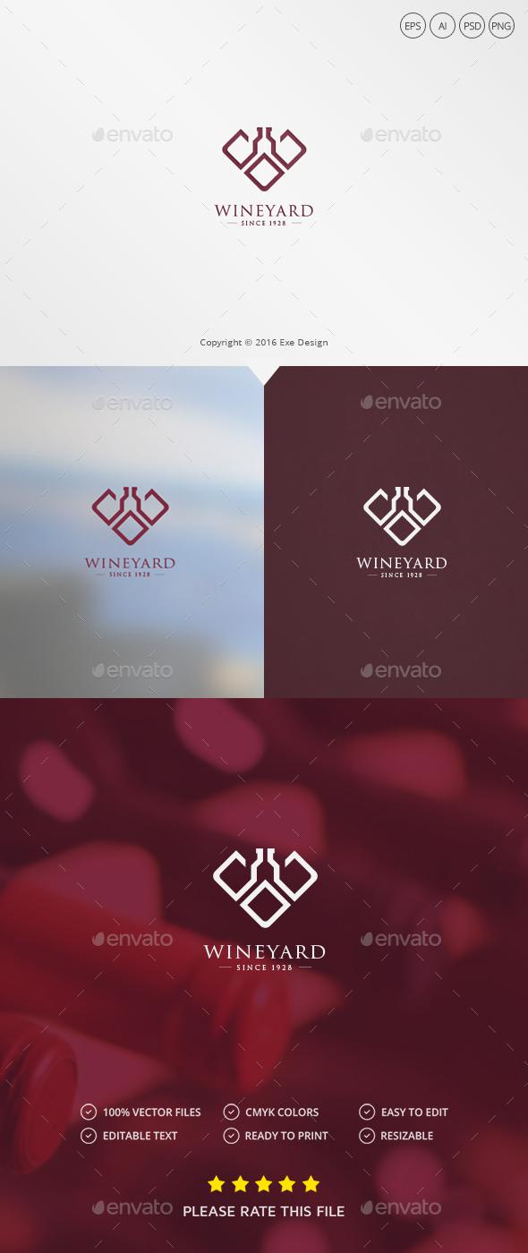 Wine / Letter W Logo - Letters Logo Templates