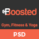 Boosted - Gym, Fitness & Yoga PSD Template Nulled