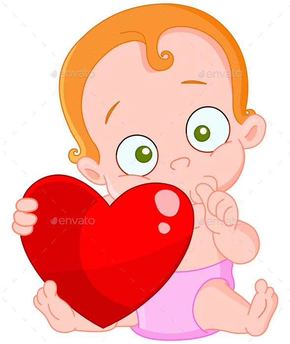 Red Hair Baby Girl Valentine - Valentines Seasons/Holidays