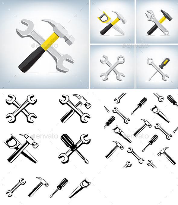 Different Tools Icon - Man-made Objects Objects