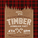 Lumberjack Party Flyer / Postcard