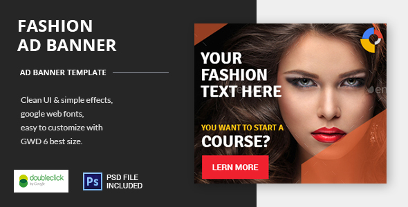 Fashion Course - HTML5 Animated Google Banner 01 - CodeCanyon Item for Sale