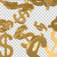 Golden Dollar Signs Falling - VideoHive Item for Sale
