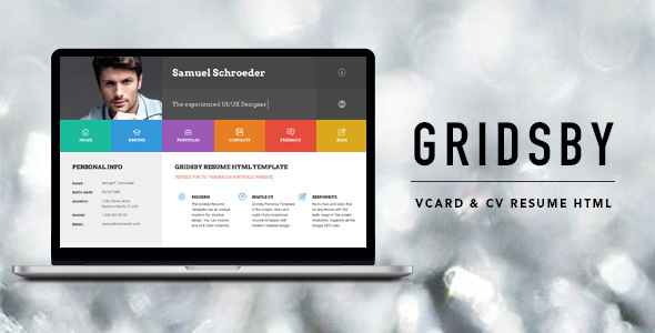 Gridsby Multipurpose Resume HTML5