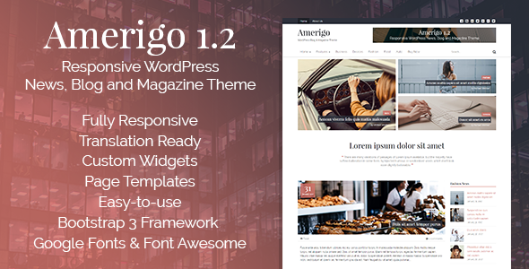 Amerigo – Responsive WordPress News, Blog and Magazine Theme