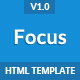 Focus - Multi Purpose App Landing Page Template Nulled