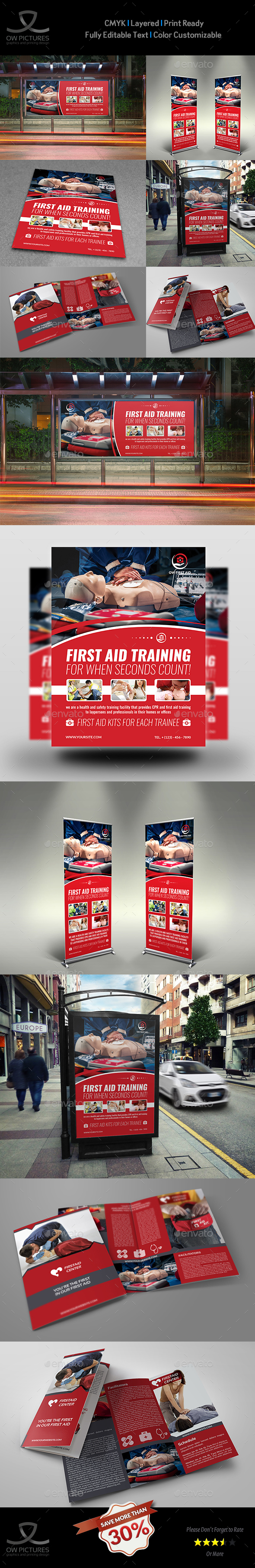 First Aid Advertising Bundle - Signage Print Templates