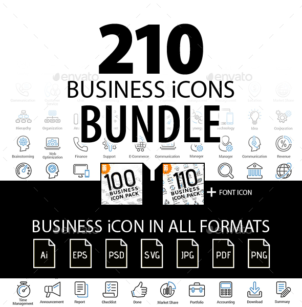 210 Business icon Bundle - Business Icons