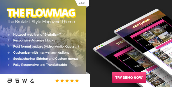 FlowMag – Brutalist WordPress Magazine Theme