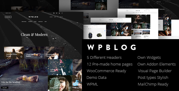 WPblog – Powerful Blog & Magazine WordPress Theme