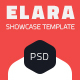 Elara - Full Screen App Showcase PSD Template - ThemeForest Item for Sale