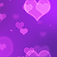 Purple Glowing Hearts - VideoHive Item for Sale