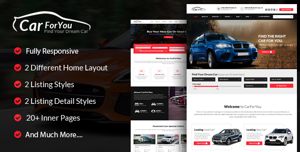 CarForYou – Responsive Car Dealer HTML5 Template