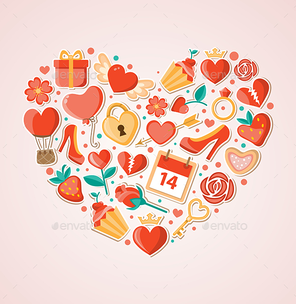 Heart for Valentine's Day - Valentines Seasons/Holidays